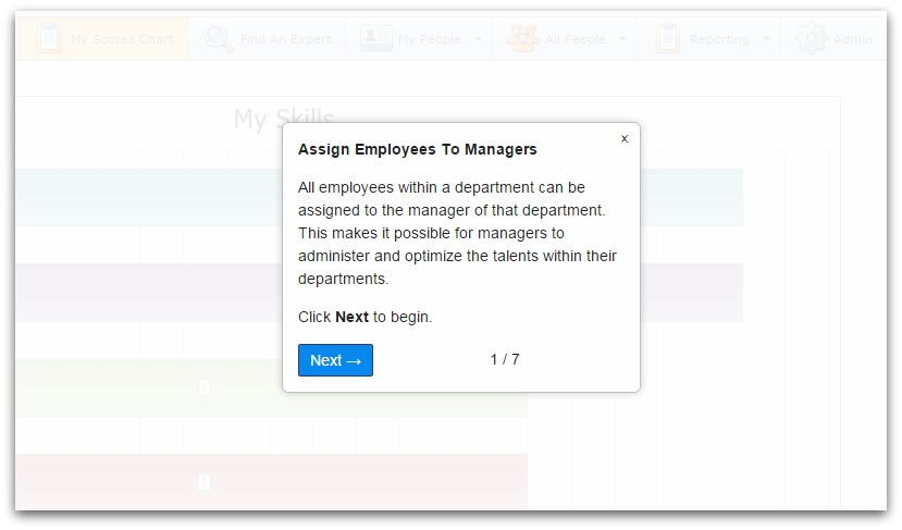 Assign employees screenshot